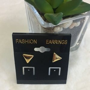 Urban Outfitters Gold Triangle Studs